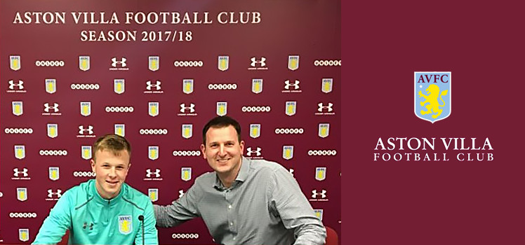 Our EJAFL Goalkeeper is signed to Aston Villa