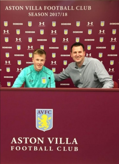 EJA U15 GK Signs for Aston Villa