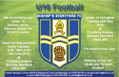 BSFC U16 Advert