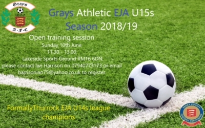 Grays U15 advert