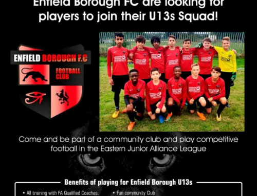 Enfield Borough FC are looking for players to join their U13s squad